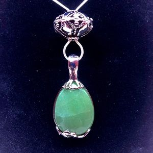 Green Quartz Gemstone Pendant